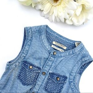 6T Patterned Denim Romper